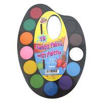 Kids Paint Pallet Palette Water colour Paint Set Brush Childrens Art