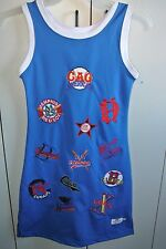 Negro League Baseball Museum Embroidered Team Logo Dress on Blue Juniors Med/NWT