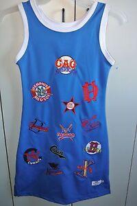 Negro League Baseball Museum Embroidered Team Logo Dress on Blue Juniors Med/NWT