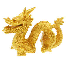 1x Chinese Dragon Figurine Statue Room Decoration Crafts Collectible Gold