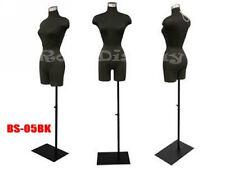 Female Mannequin Manequin Manikin Dress Form #F2Blg+Bs-05Bk