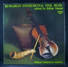 3 erlp-Set Hungarian strumentale Folk Music-Edited by Balint Sarosi, NM