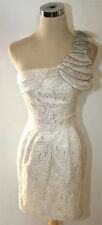 NWT WINDSOR $90 Silver Homecoming Party Dance Dress 7