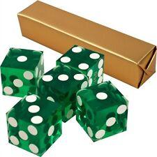 19mm Grade A Serialized Precision Casino Craps Dice - Set of 5 (Green) Pro Dice