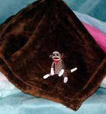 Sock Monkey MicroFleece Baby Blankets Personalized with Name & Date