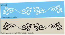 Joanie Stencil Fancy French Scroll Border Art Shabby Cottage Prim Decor signs