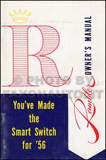 1956 Rambler Manuale di Istruzioni Originale Nash Hudson AMC Owner Utente Guida