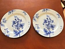 "WILLIAMS SONOMA ORMONDE BLUE RASPBERRY SALAD PLATES 9 1/8"" NEAR TO MINT LOT OF 2"