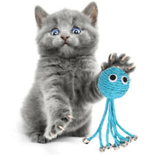 New listing Baby Octopus Woven Pet Playing Toy With Bell Cat Toy Cat Interactive To Hf