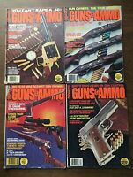 GUNS & AMMO MAGAZINE 1977 Lot of 4 Vintage Firearms Shooting Hunting Ads