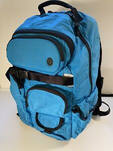 RARE! LULULEMON Laptop Backpack Blue Large With Sunglasses Pouch. Travel Bag