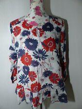 Neue PETER HAHN Damen Schlupf-Bluse Gr 40 Blüten Print 3/4 Arm 717819