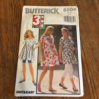 Vtg Butterick Pattern 6004 Size L XL 3 pieces Uncut Fast & Easy USA 1992 sewing