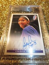 Candace Parker 2008 WNBA Los Angeles Sparks basketball Rookies Autograph BGS 9