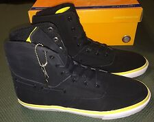 Radii Gilligan High VLC Skateboard Sneakers Men sz 11 Black Yellow New Hi Tops