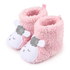 Recién Nacido Bebé Niño Niña Suela Blanda Zapatos de cochecito Polar Botines