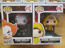 Funko Pop It Pennywise w/ Boat & Georgie w/ Boat Combo #472 and #536 In Stock!