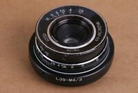 INDUSTAR 69 lens LEICA m39 28mm f/2.8 Vintage + Adapter Micro 4/3 Mount
