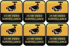 Warning CCTV Security Surveillance Notice Camera Sticker Sign Decal,6 Pieces.!!!