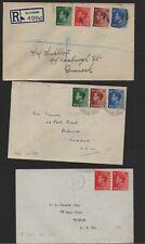 Gb 1936 Edward Viii Sg457-480 3 Fdc's registered envelopes cat £500+