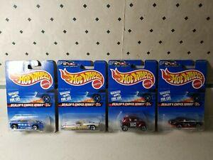 Vintage DEALER'S CHOICE SERIES- 1996 Hot Wheels 4 Car Complete Set
