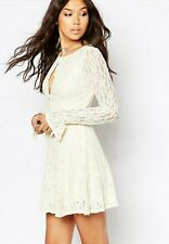 FREE PEOPLE  IVORY TEEN WITCH  LACE DRESS Medium  NWT
