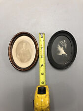 Antique Wood Frames(2)oval With Old Picture