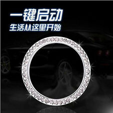 1pc Auto Car SUV Decorative Silver Accessories Button Start Switch Diamond Ring