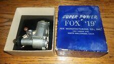 "Fox Mftg. Super Power Fox ""19"" engine. Nos (?) model r/c airplanes Please Read"