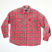 Vtg Destroyed Quilted Flannel Work Shirt XL? Sun Wash Faded Distressed Grunge