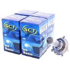 4x SCT H4 Basic Halogenlampe Leuchte 12V 60/55W Glühlampe Scheinwerferlampe
