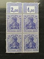 German Stamps -- Germany 1905 84 Block (SCOTT 800 USD)