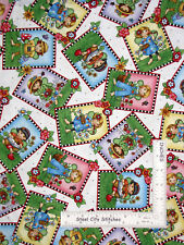 Engelbreit Fairy Flowers Toss White Cotton Fabric QT Mary 's Fairies By The Yard