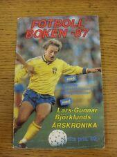 circa 1987 Fotboll Boken-87: The Swedish Football Book 1987, Swedish Issue. Unle