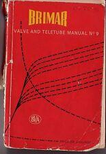 BRIMAR VALVE AND TELETUBE MANUAL NUMBER 9-  196X (PARTIAL)