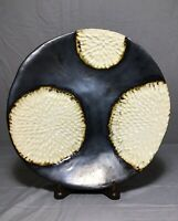 Art Studio Pottery Signed TDW Plate Dish Hydrangea Wish Flower Ivory