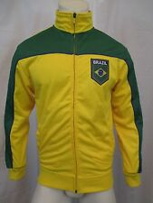 BRAZIL FULL ZIP UP TRACK JACKET SZ S JOGGING, RUNNING, SPORTS, SOCCER JACKETS