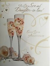Son & Daughter-in-law Anniversary Card