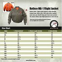 MA-1 Bomber Jacket Rothco Air Force Military Reversible Flight Coat Jacket NEW