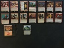 Magic: The Gathering - RED WARRIOR DECK #4 w/ Magma Giant/Haphazard Bombardment
