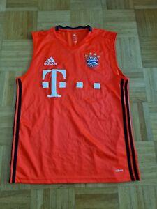 FC Bayern München matchworn Tanktop Trainingstop Trikot T-Shirt  Adizero Sponsor