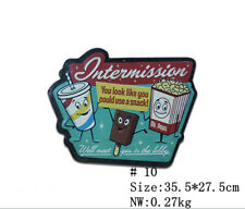 Lovely Cartoon Snacks Metal Tin Signs Funny Pub Theater Store Shop Wall Decor