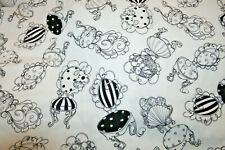 CHAIRS IN BLACKAND WHITE FROM LORALIE -  100% COTTON FABRIC