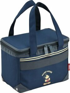Disney Mickey Mouse insulated thermal fold cooler bag box REH-005DS BL Japan.