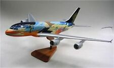 A-380 Tropical Singapore Airbus Airplane Wood Model Sml