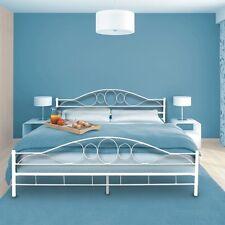 Modern Double Metal Bed Frame Sturdy Iron Bedstead Vintage Bedroom Furniture New