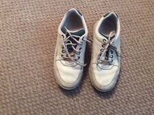 LADIES ROCKPORT LEATHER GREY/ STONE LACE UP SHOES SIZE 4.5 EU 36.5