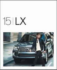 2015 Lexus LX LX570 24-page Original Car Sales Brochure Catalog