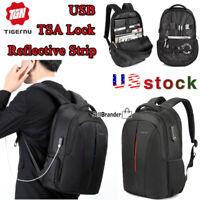 Tigernu Splashproof 15.6 inch Laptop Backpack TSA Anti Theft Lock USB Travel Bag
