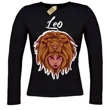 Leo T-Shirt Star sign horoscope ladies long sleeve